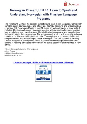 pimsleur portuguese reading booklet pdf