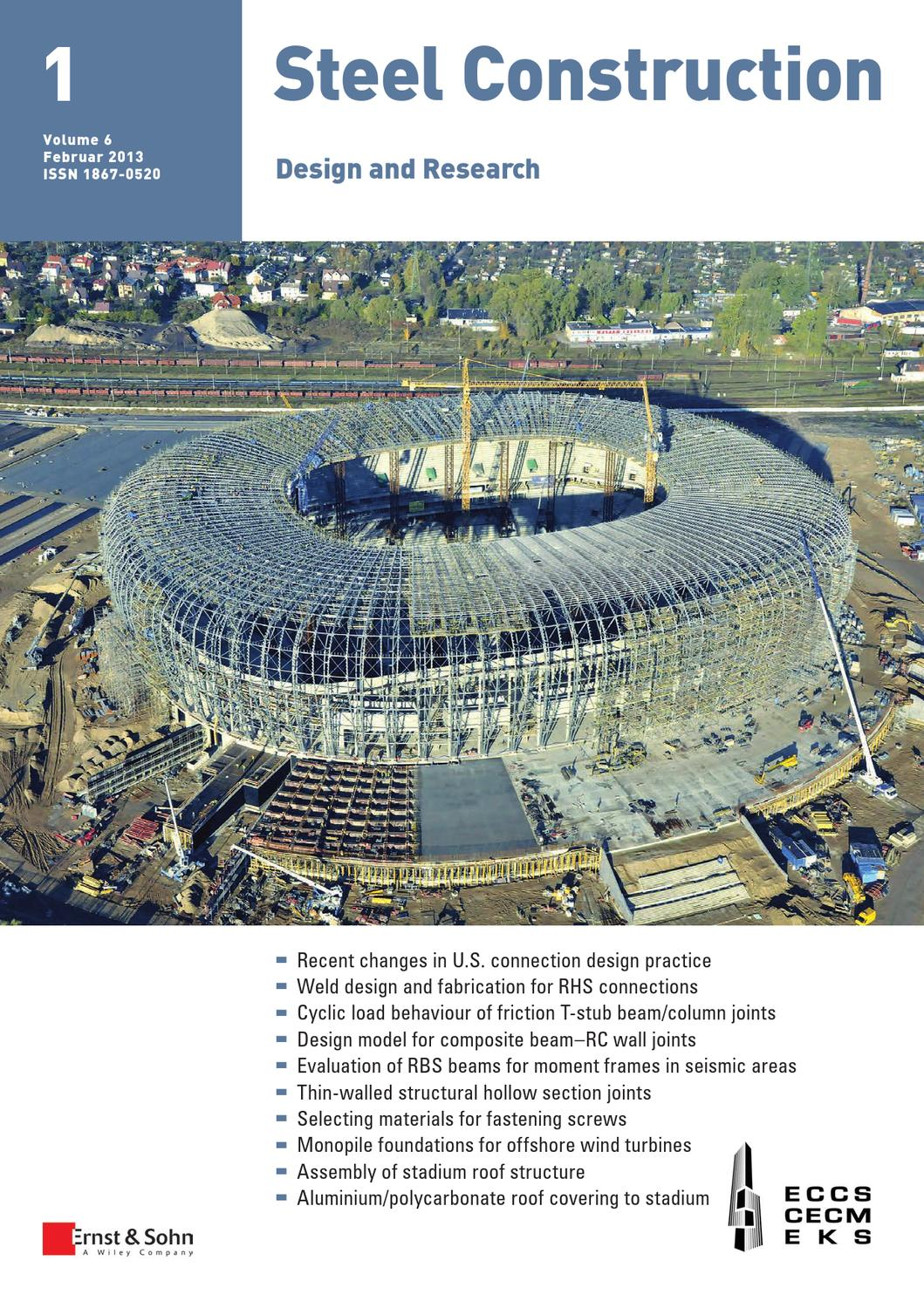 Steel Construction 01 2013 Free Sample Copy By Ernst