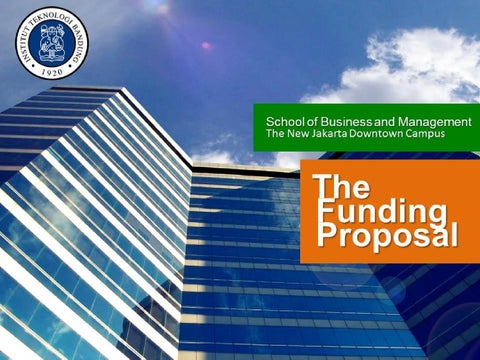 A Funding Proposal Mba Itb Jakarta By Sbm Itb Issuu