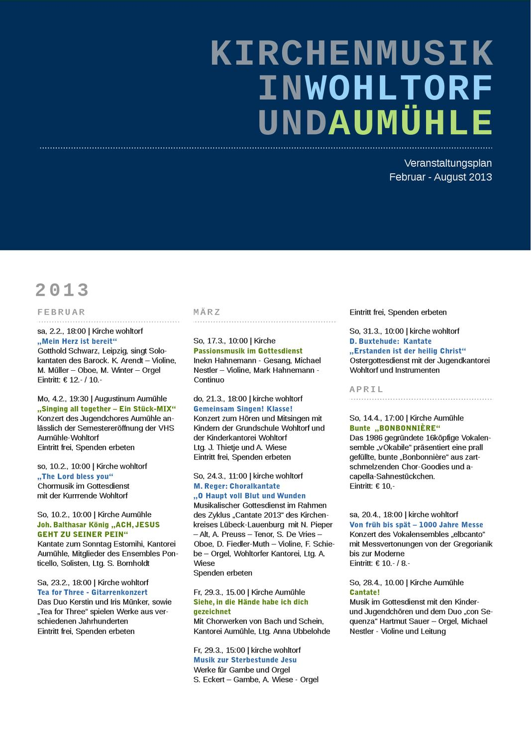 Kirchenmusik in Aumühle by Wolfgang Preller - issuu