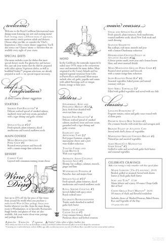 oasis of the seas main dining room menu - september 2012 | royal