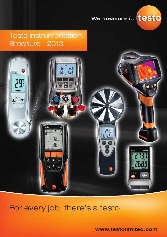 set 1 Handheld T-bar pH meter testo 205