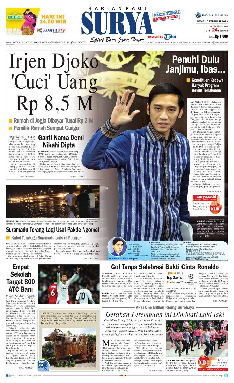 27a04ef022c3e Epaper Surya 15 Februari 2013 by Harian SURYA - issuu
