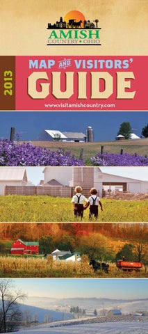 2013 Amish Country Map Amp Visitors Guide By Kurt Kleidon