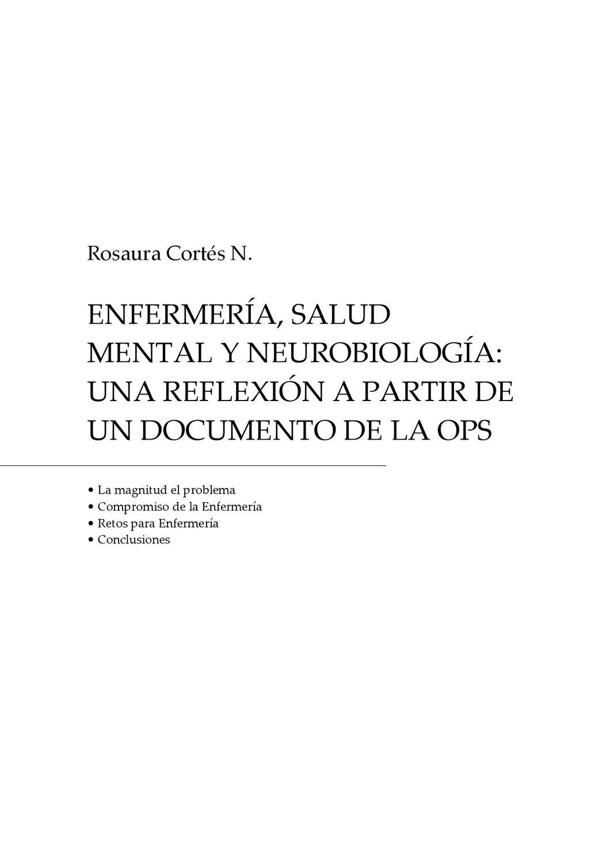12 Enfermeria, salud mental y Neurobiología by Jorge Franco - issuu