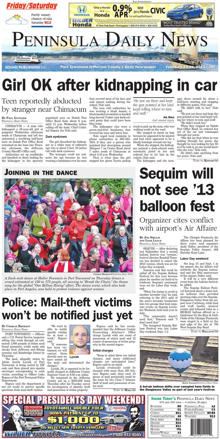 e1fbf53fafb PDN20130215J by Peninsula Daily News   Sequim Gazette - issuu
