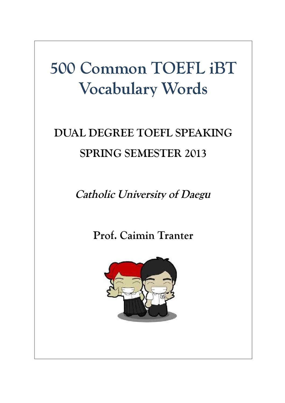 500 Common TOEFL iBT Words by caimin tranter - issuu