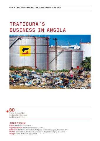 Trafigura's business in angola by Public Eye - issuu