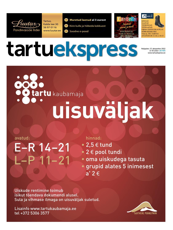 6e0dbab5351 Tartu Ekspress, 13.12.2012 by Tartu Ekspress - issuu