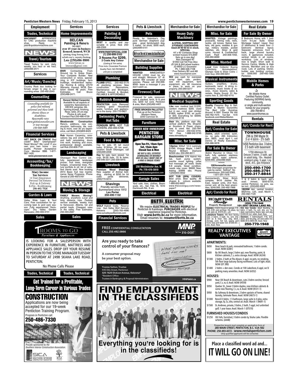 Penticton Western News, February 15, 2013 by Black Press