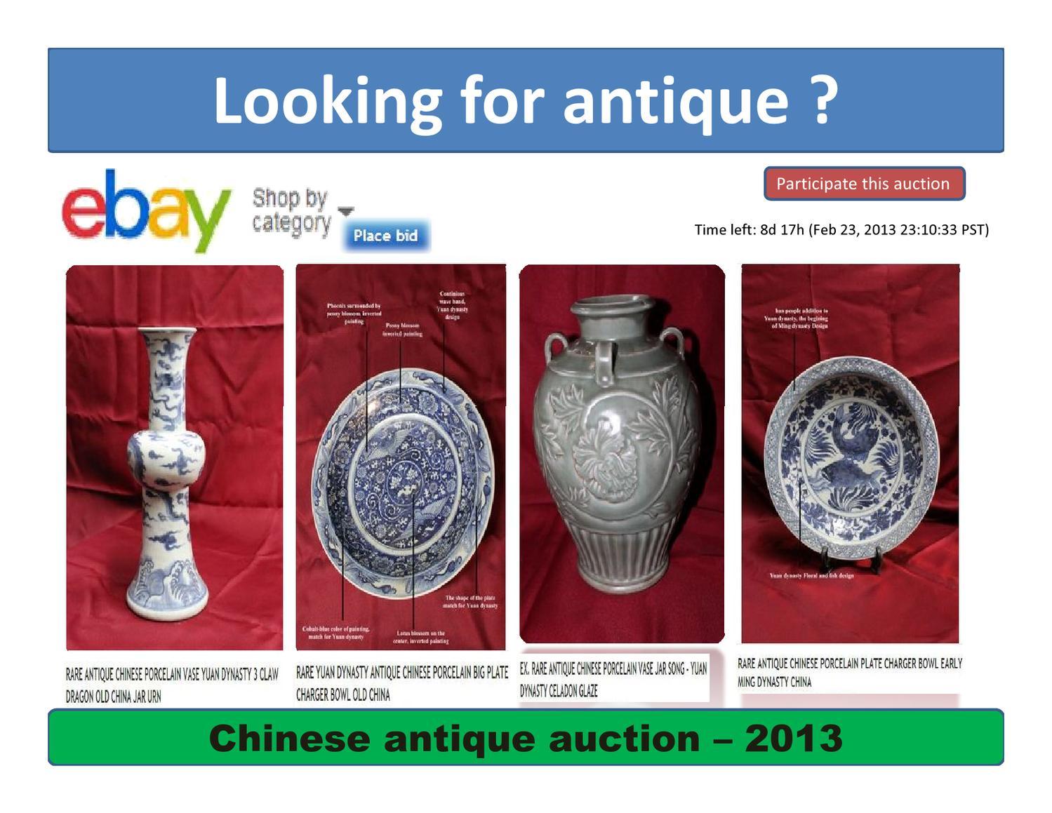 Chinese Antique Auction On Ebay 2013 By Masum Multimedia Issuu