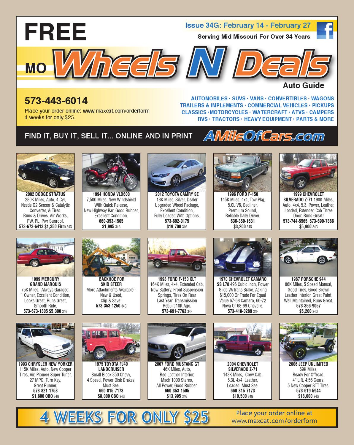 Wheels N Deals Issue 34g By Maximum Media Inc Issuu Buick Rendezvous Cxl 2002 Electric Seat Issues