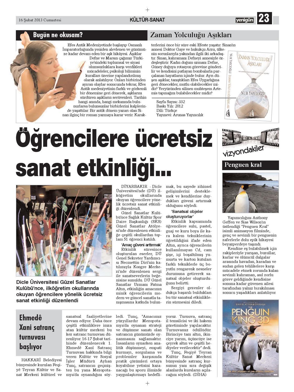 Diyarbakir Yenigun Gazetesi 16 Subat 2012 By Osman Ergun Issuu