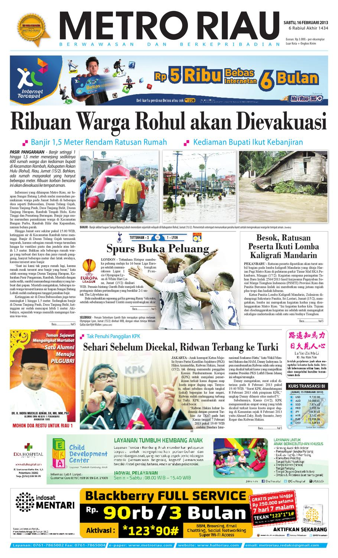 160213 By Harian Pagi Metro Riau Issuu Produk Ukm Bumn Tas Ransel Threepoint
