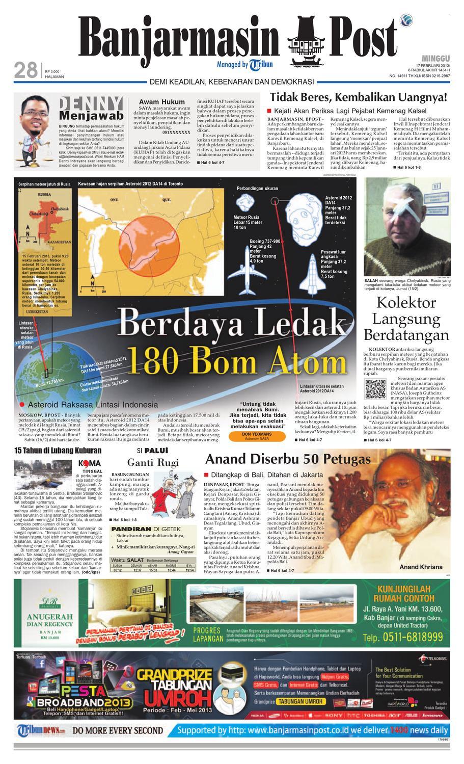 Banjarmasin Post Edisi Minggu 17 Februari 2013 By Banjarmasin