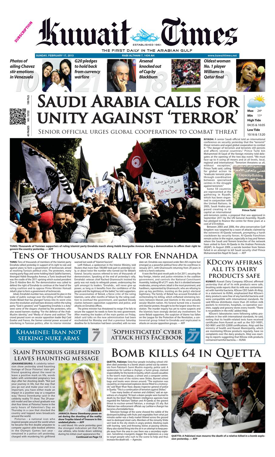 17 Feb 2013 by Kuwait Times - issuu