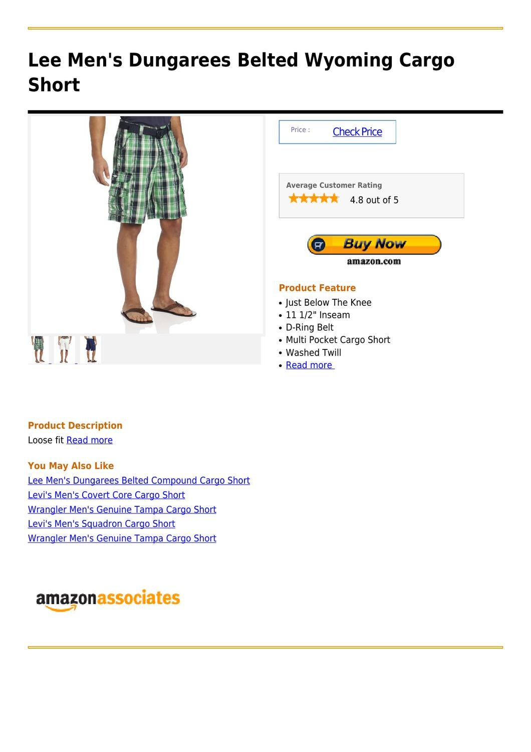 445618d1c5 Lee Men's Dungarees Belted Wyoming Cargo Short by pandora emora - issuu