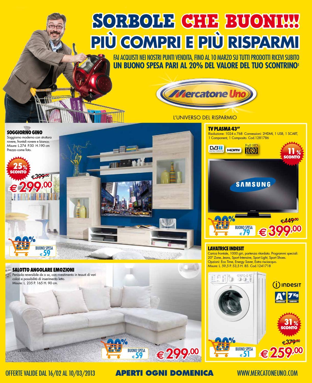 Mercatone uno volantino 16 febbraio 10 marzo 2013 by issuu - Mercatone uno mobili tv ...