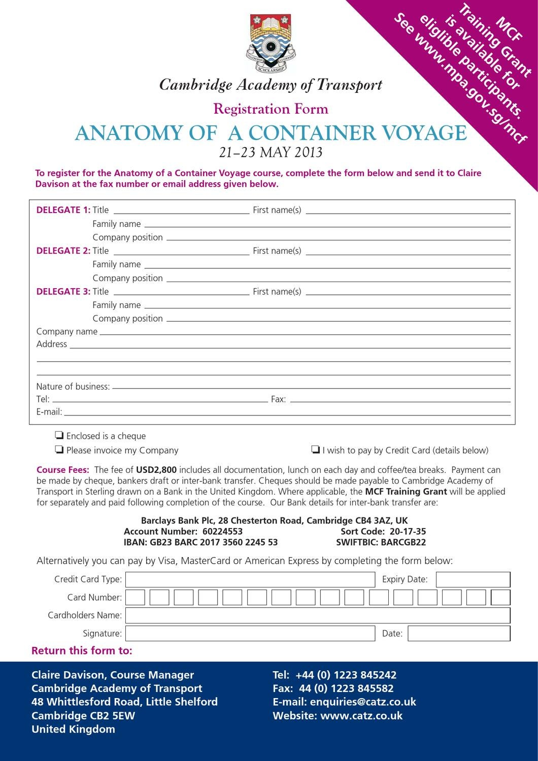 Anatomy Of Container Voyage By Cambridge Academy Of Transport Issuu