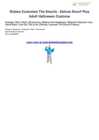Mens Adult Licensed THE SMURFS Blue Smurf Costume