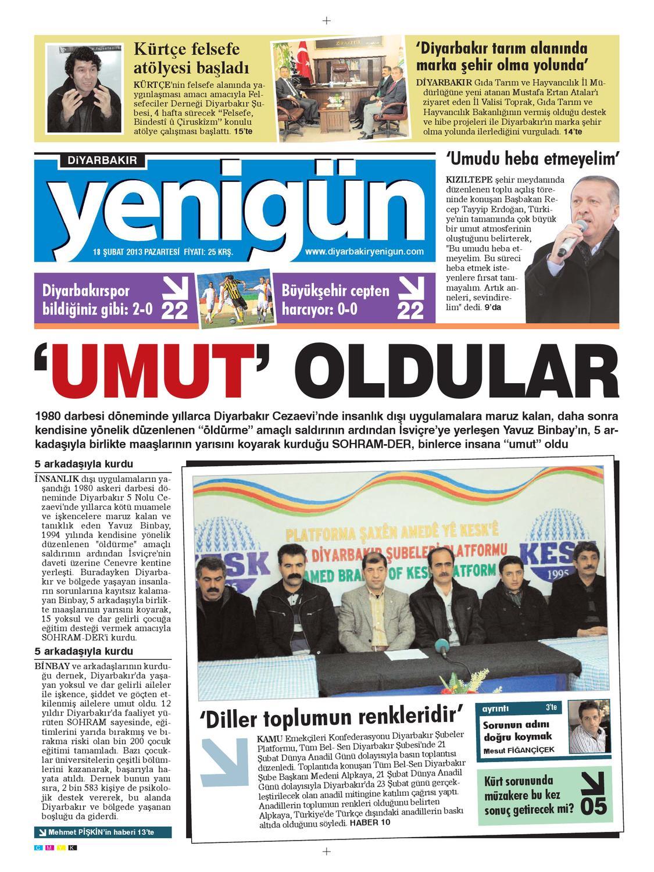 Diyarbakir Yenigun Gazetesi 18 Subat 2012 By Osman Ergun Issuu