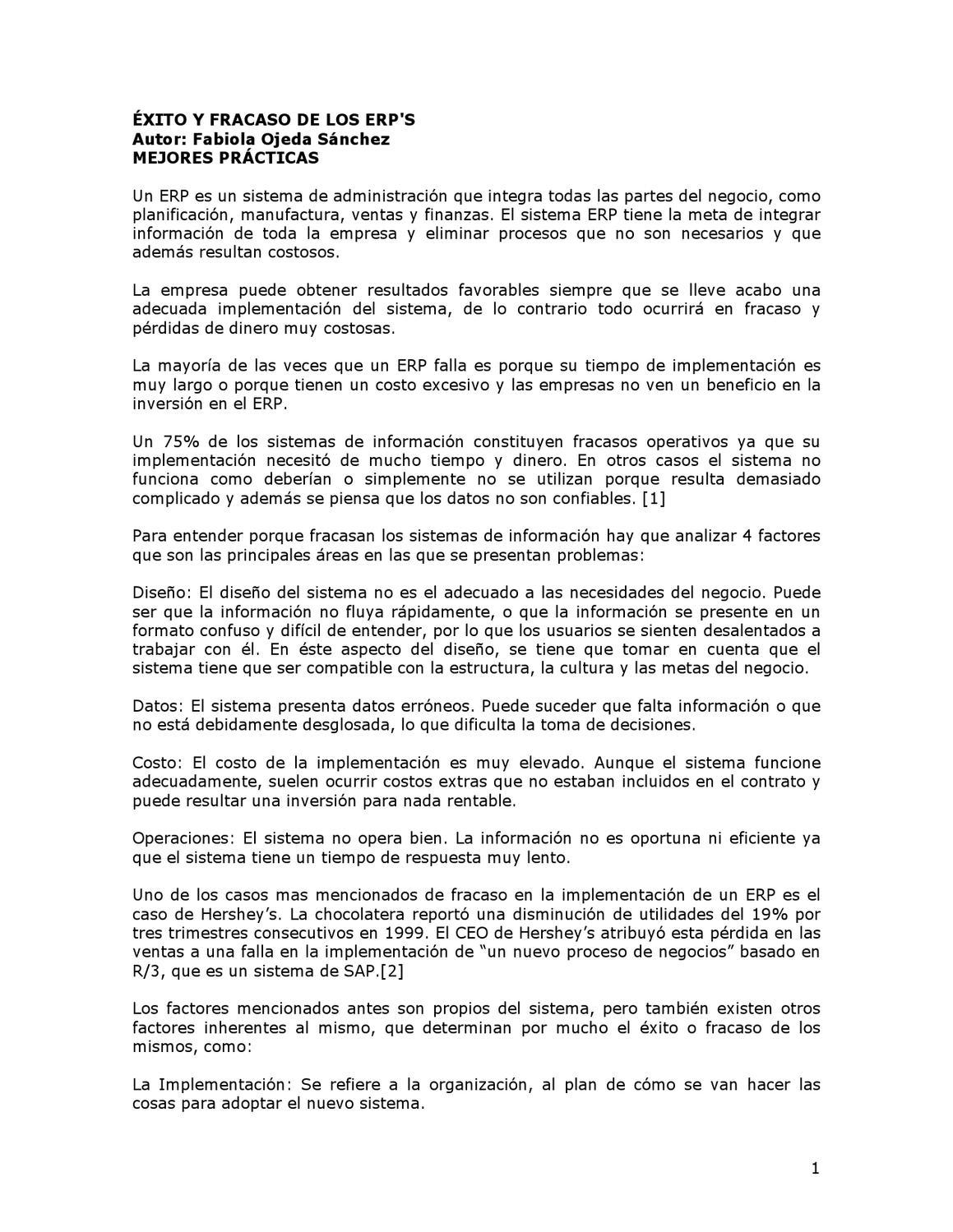 exito y fracaso de los ERP by karen Rivas - issuu