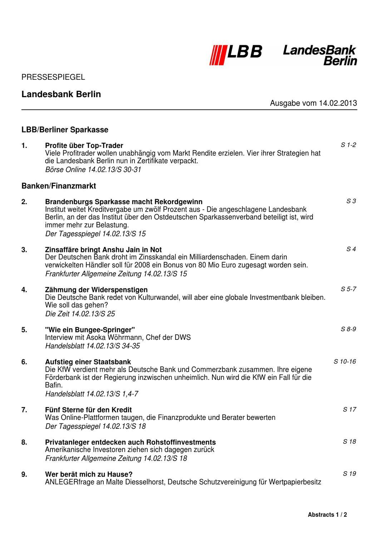 Landesbank Berlin, (Active Algotrading) Zertifikat by Goldstein ...
