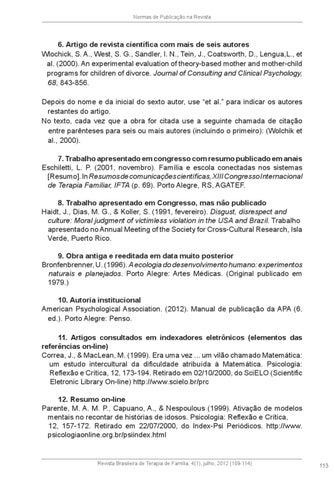 revista brasileira de terapia familiar v 4 by abratef issuu843 Citacao Em Artigo #9
