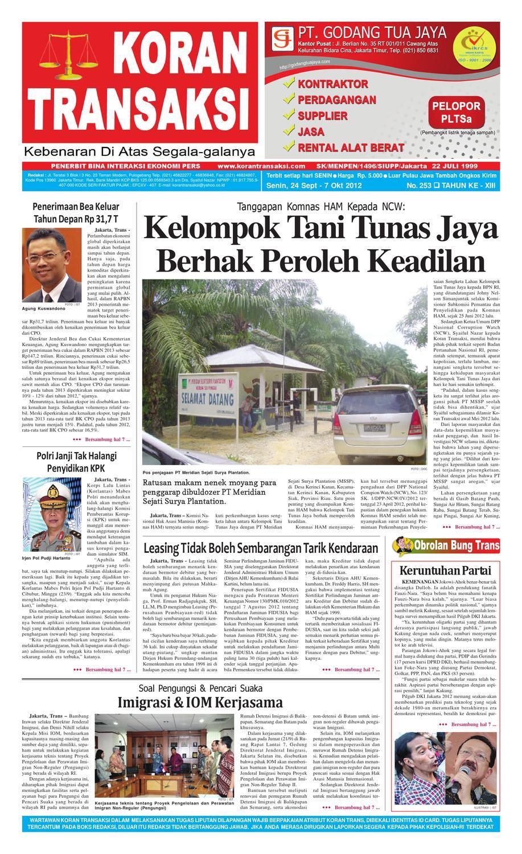 Koran Transaksi Edisi 253 By Issuu Rkb Tegal Produk Ukm Bumn Emping Ubi