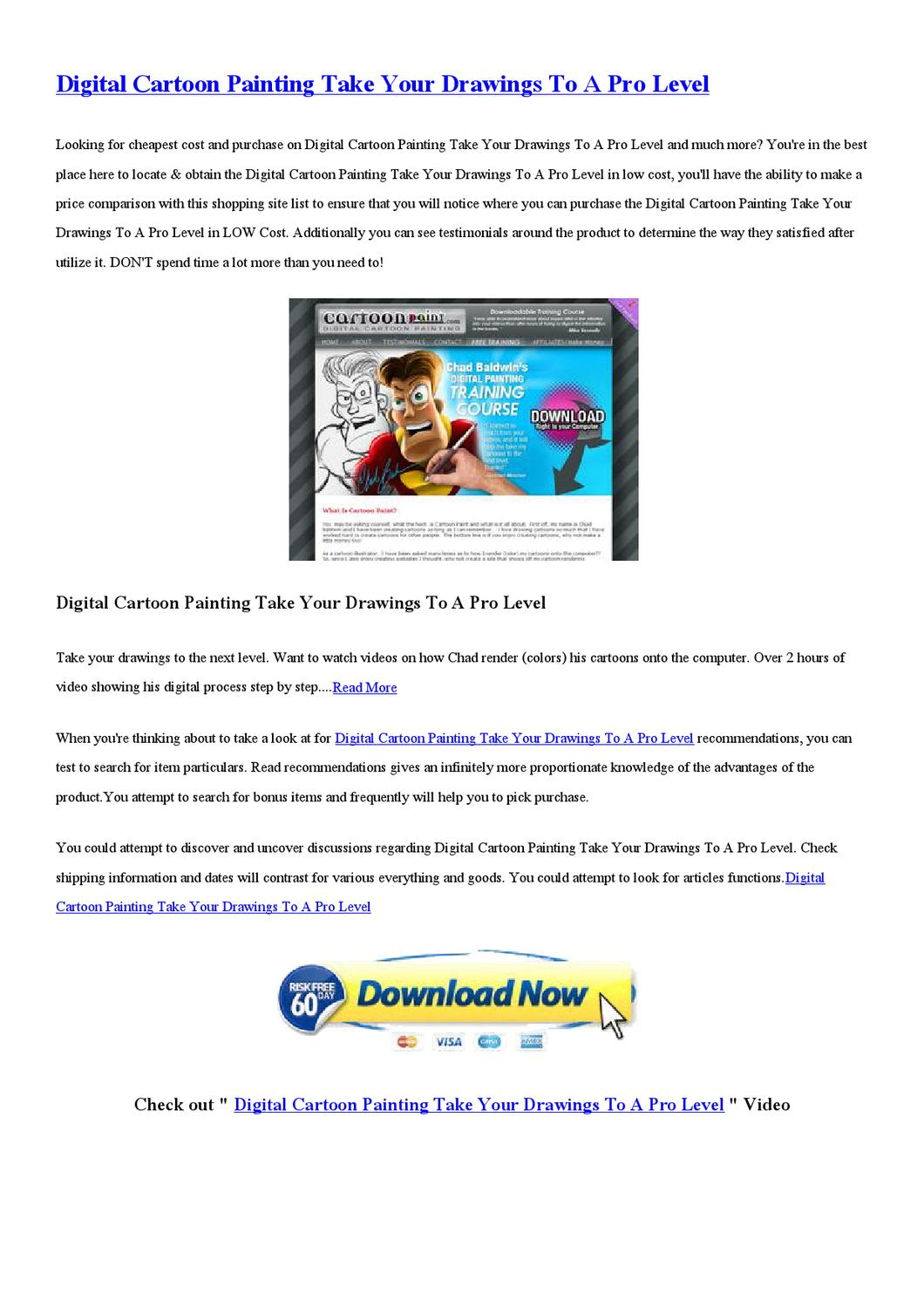 Digital cartoon painting take your drawings to a pro level