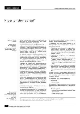 Radiología doppler de hipertensión portal