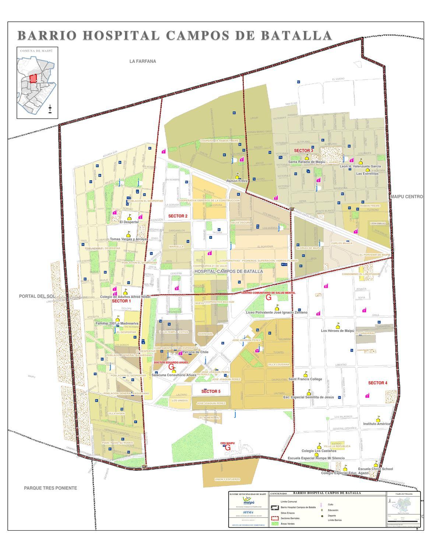 6 hospital campos de batalla barrio y sus sectores by for Viveros en maipu
