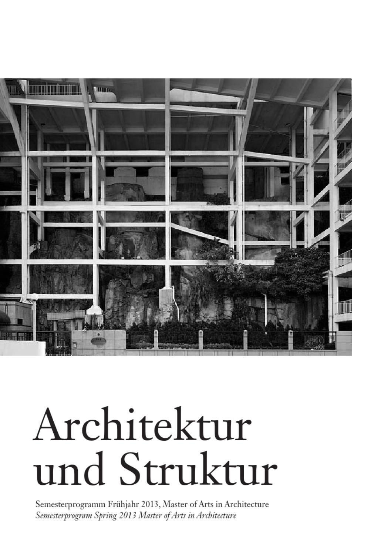 Semesterprogramm fr hjahr 2013 hochschule luzern by master for Master architektur
