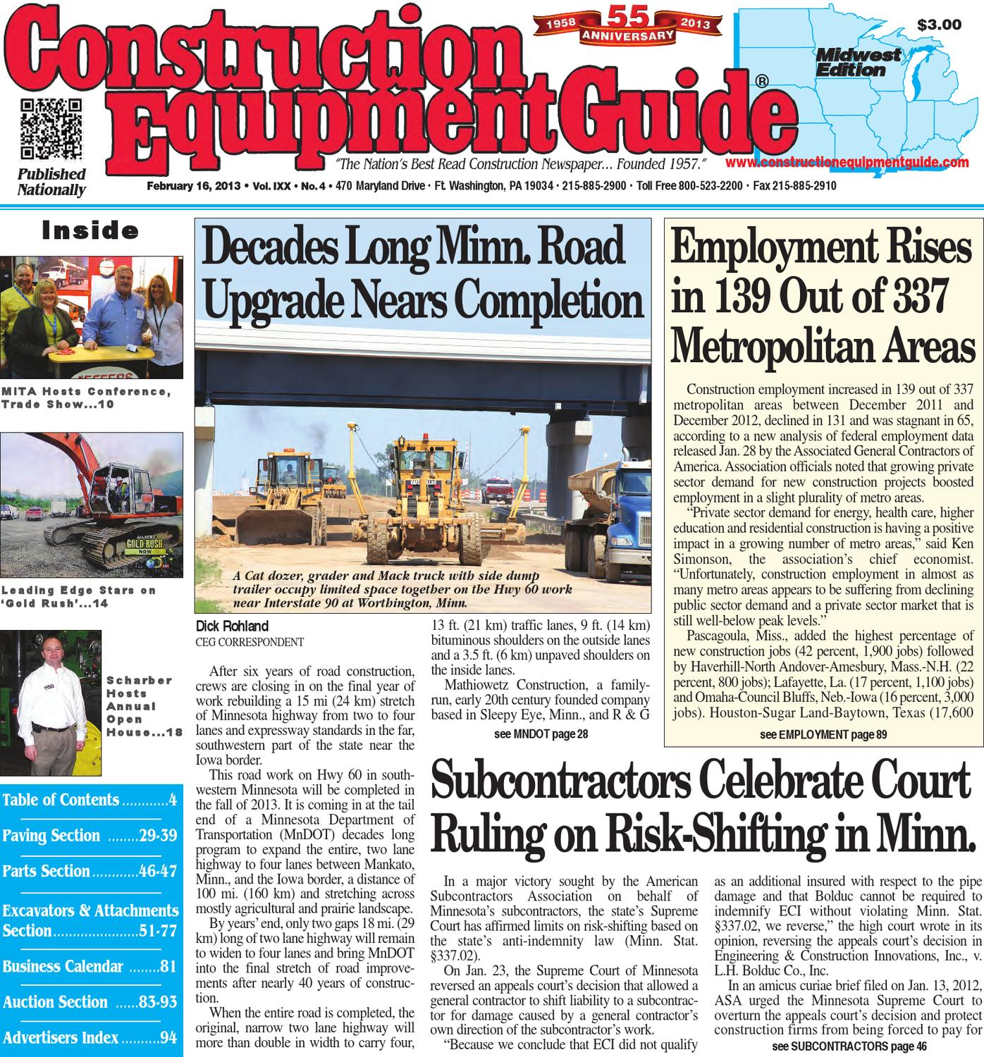 Midwest 42013 By Construction Equipment Guide Issuu Door Closure Wiring Diagram 279c Cat