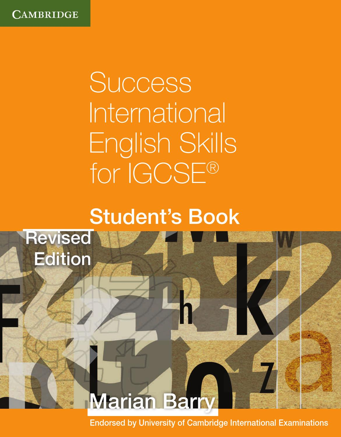 Success International English Skills for IGCSE: Student's Book
