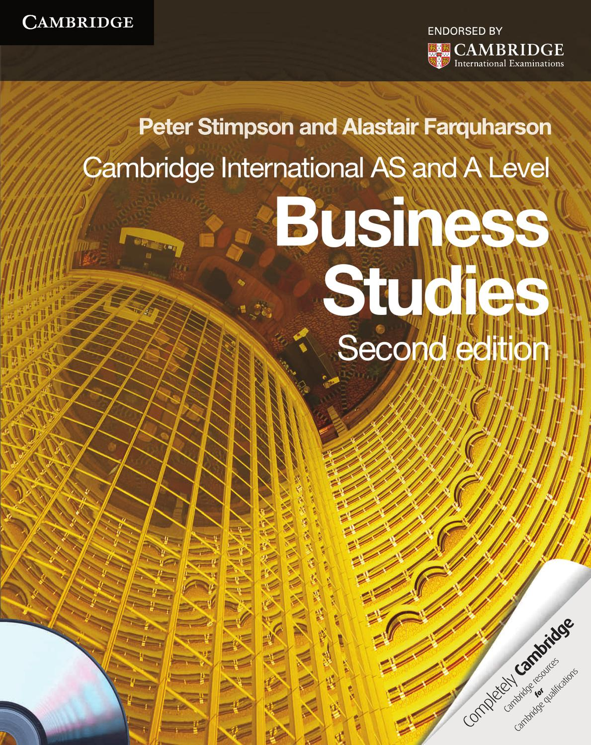 Cambridge International As And A Level Business Studies Coursebook