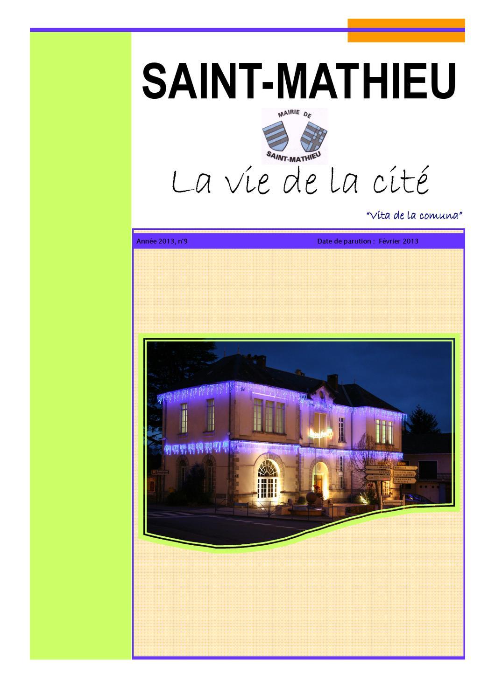Bulletin municipal Saint-Mathieu by Alain Dupond - issuu 3088ed56dd82