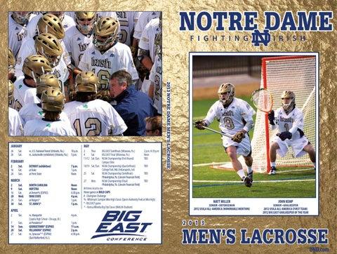 49d6e412 2013 University of Notre Dame Men's Lacrosse Media Guide by Chris ...
