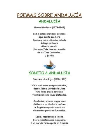 Poemas Sobre Andalucía By Fuentes Barrios Issuu