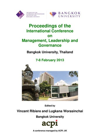 Icmlg 2013 proceedings of the international conference on management proceedings of the international conference on management leadership and governance bangkok g university y thailand 7 8 february 2013 fandeluxe Image collections