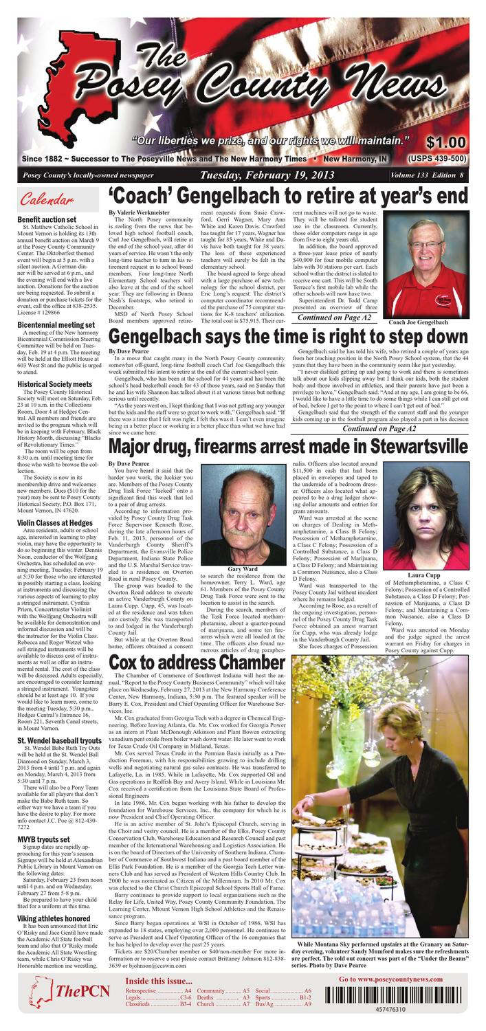 February 19 2013 The Posey County News By 21 Printed Circuit Board Repairs Sparky Issuu