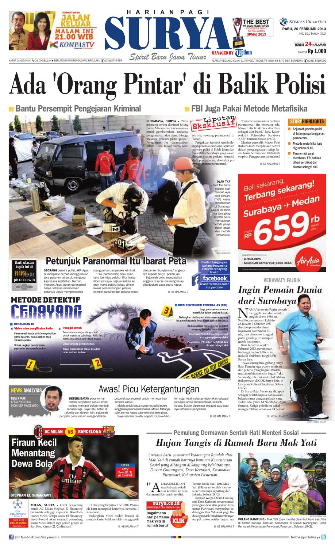 E Paper Surya Edisi 20 Februari 2013 By Harian Issuu Sebukalapakcincin Import Giok Tetes Airmodel Viral 2018