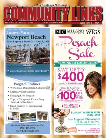 Community Links Issue 226 Purim edition by The Jewish Link - issuu