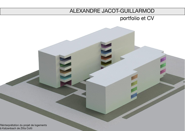 portfolio et cv d u0026 39 alexandre jacot