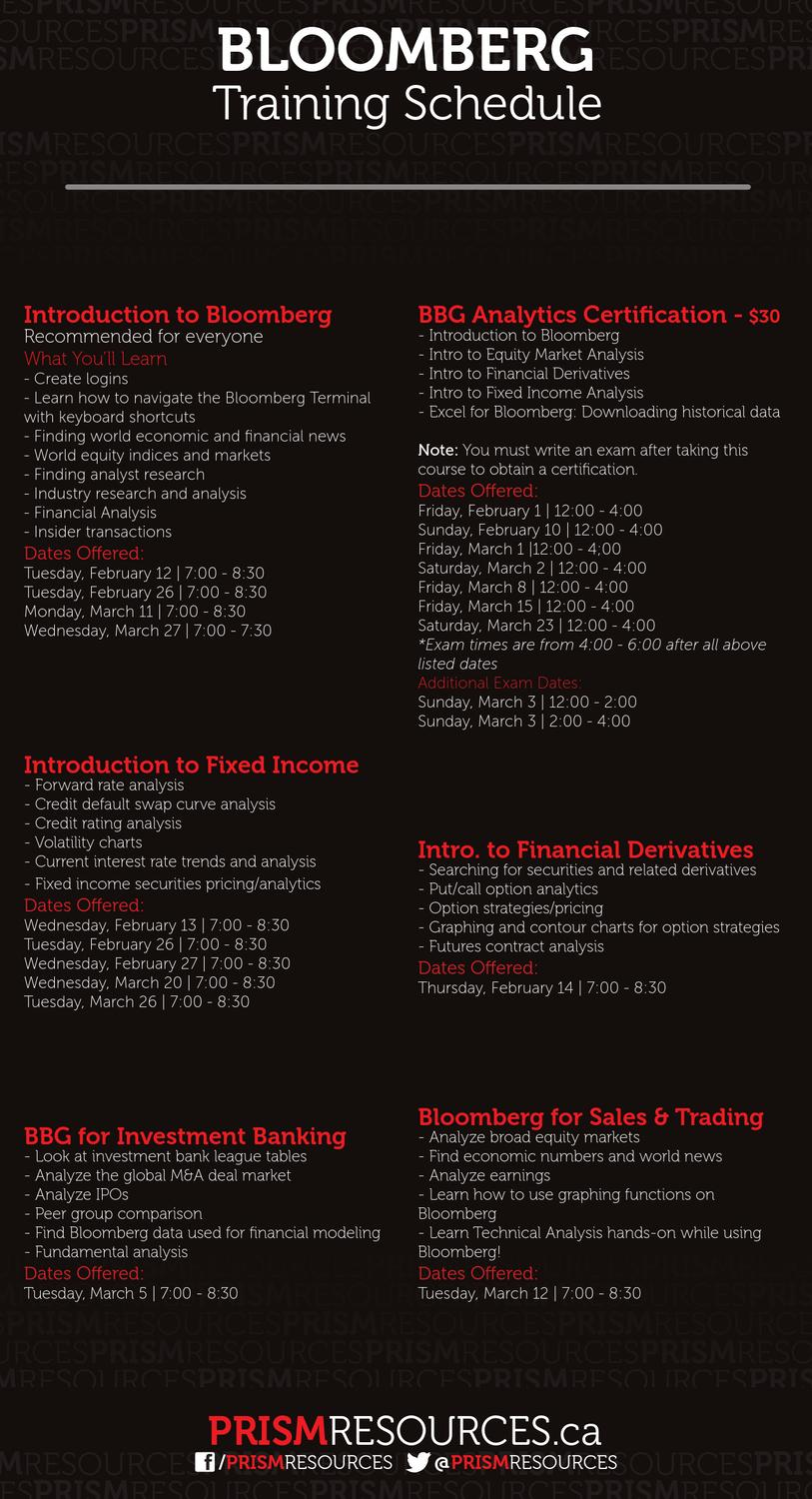Prismresources Bloomberg Schedule Winter 2013 By Prism Resources Issuu
