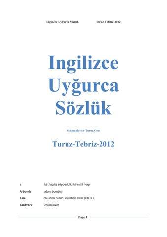 Ingilizce Uyghurca Sozluk 12000 Bashliq Tebriz Turuz 2012