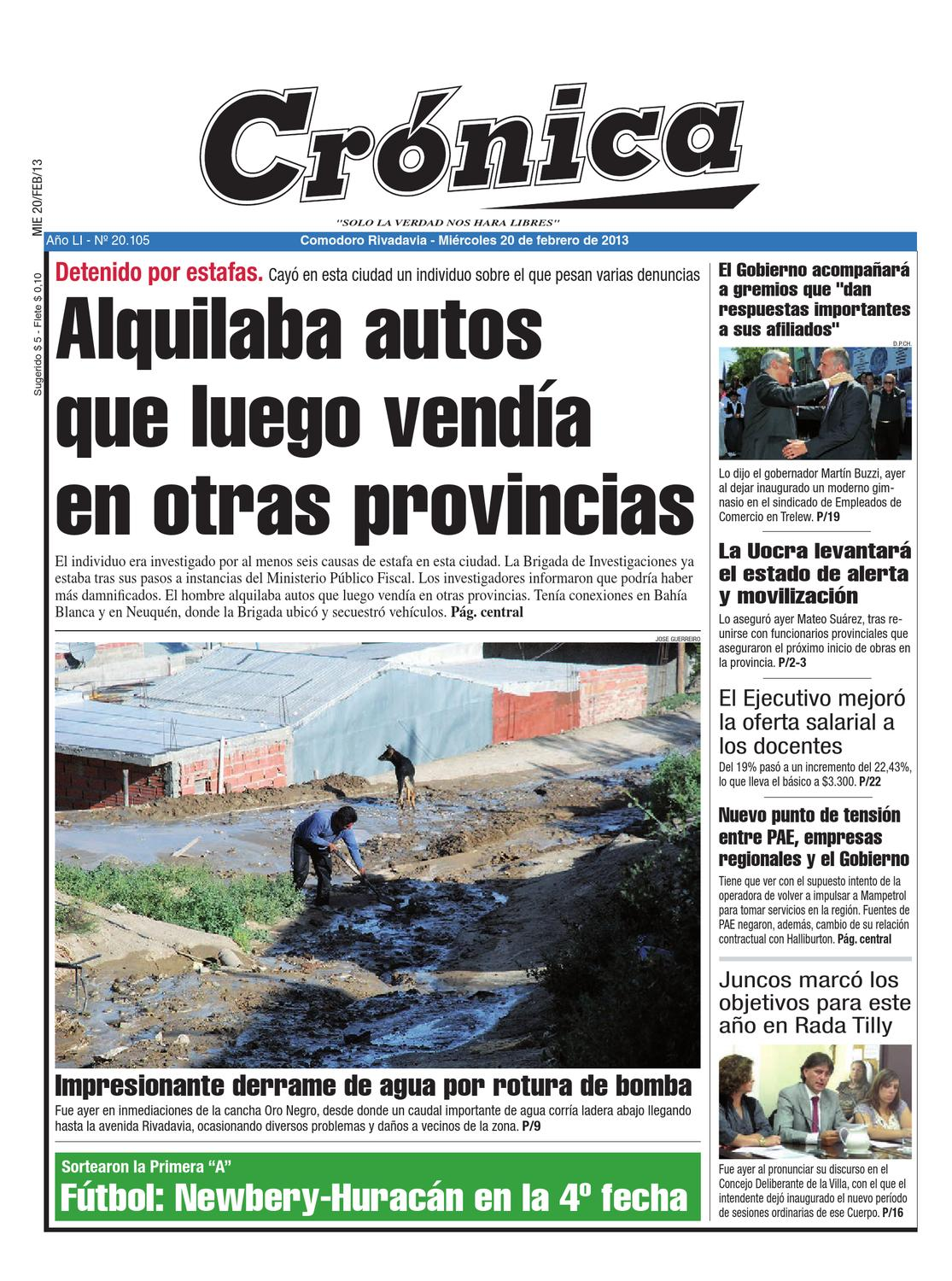 ab477f453a654dc3c2c2703d431982ba by Diario Crónica - issuu