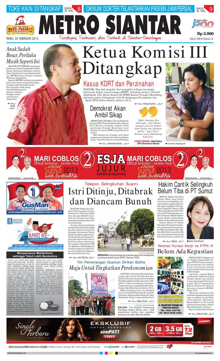 Epaper Metro Siantar Online By Issuu Extri Jam Tangan Pria X3001d Swasa