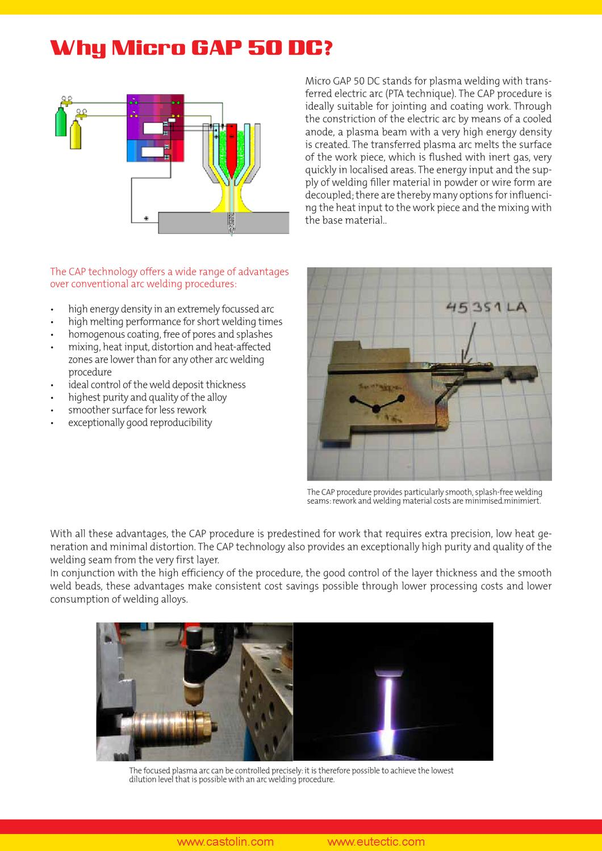Micro Gap 50 Dc Plasma Welding Transferred Arc By Castolin Eutectic Process Diagram Issuu