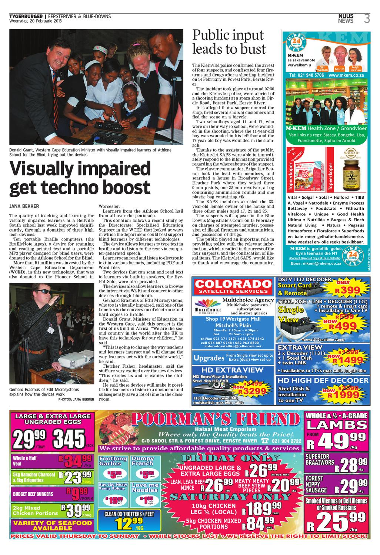 Tygerburger Eersterivier 20 Feb 2013 By Newspaper Issuu Dstv Explora Lnb Connection With Smart